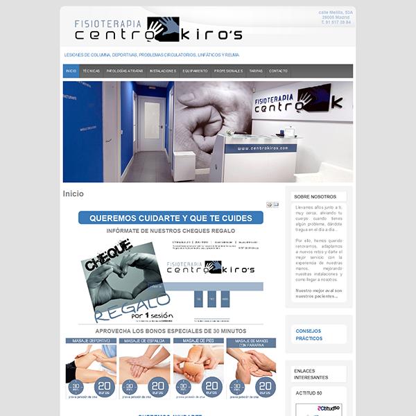 pagina web del centro kiros